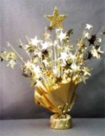 Gold Star Balloon Centerpiece