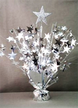 Silver Star Balloon Centerpiece
