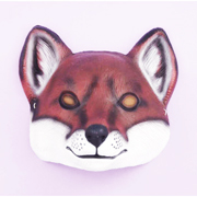 Fox Brown and White Plastic Mask