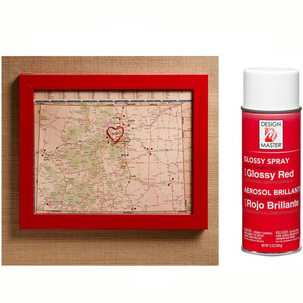 Design Master Glossy Red Spray Paint