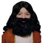 Kids Brown Wig & Beard with Moustache