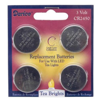 LED tea light replacement batteries