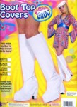 White Go-Go Boot Top Covers