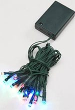 20 Count LED Teeny Bulbs Light Set - Multi Color Lights on Green Wire