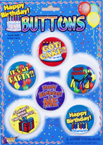 Birthday Buttons - Assorted