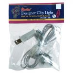 6' White Electric Cord with single Clear Bulb