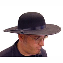 Black Felt Dome Crown Hat For Padre or Amish - Cappel s 582916c576d