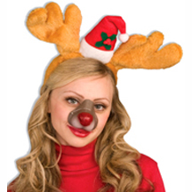 rubber reindeer animal nose