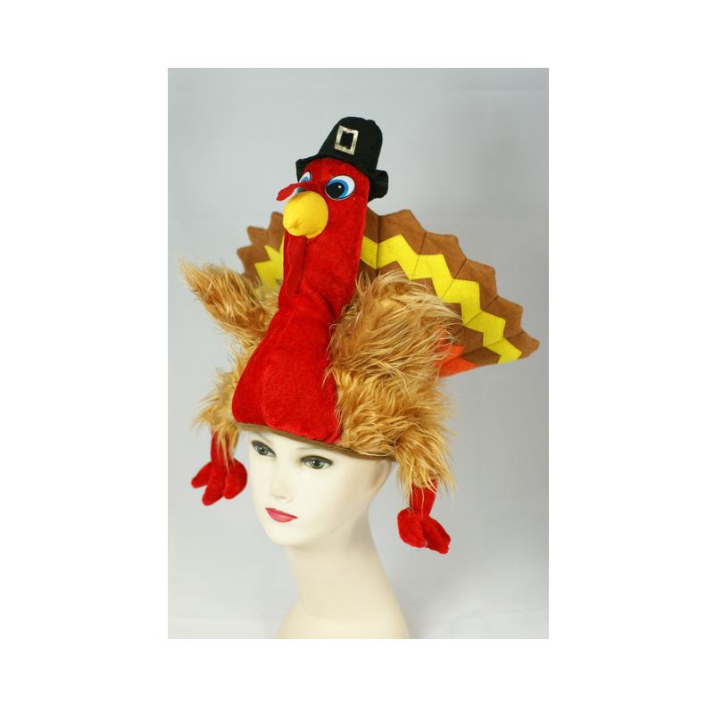 Plush Pligrim Turkey Hat