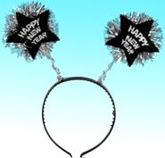 """""""Happy New Year"""" Star Head Bopper Headband"""