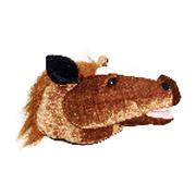 Plush Fabric Horse Head Hat