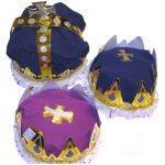 Paper Foil King Queen Crown
