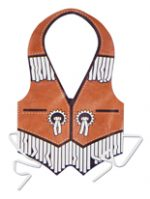 Western Plastic Tie On Vest