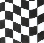 Balck and White Check Lunch Napkins