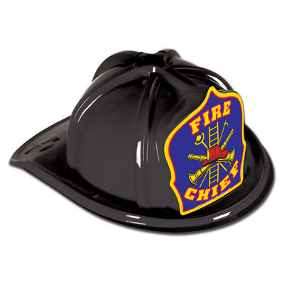 Fire Chief Helmet in Black or Red
