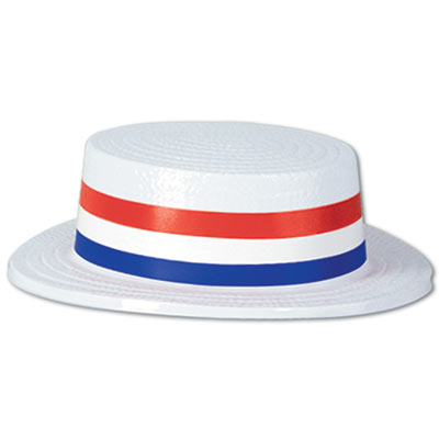 Skimmer Hat with Patriotic Band