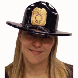 Plastic Trooper Police Chief Hat  sc 1 st  Cappelu0027s & Buy Black Plastic Police State Trooper Hat - Cappelu0027s