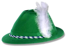 Green Flocked Tyrolean Hat
