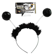 Sequin Ball Headband - Black