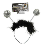 Sequin Ball Headband w/ Silver Balls