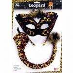 leopard ear tail mask costume accessory set
