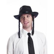 Black Felt Rabbi Hat with Hair - Cappel s 143d5ba09b30