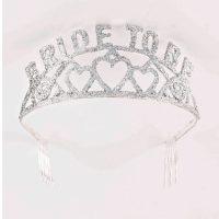 Bride to Be Silver Glitter metal Tiara