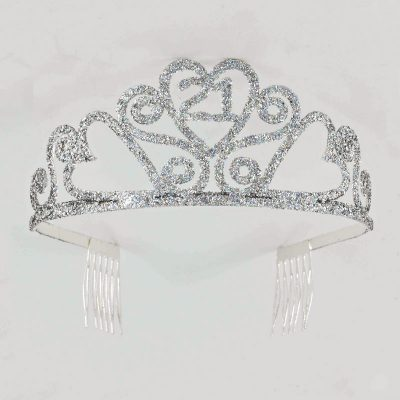 Birthday Silver Glitter Tiara - 21