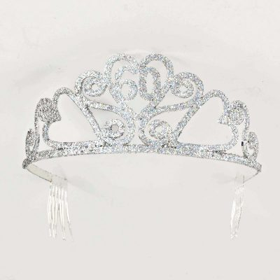 Birthday Silver Glitter Tiara - 60