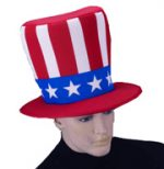Fabric Uncle Sam Top Hat