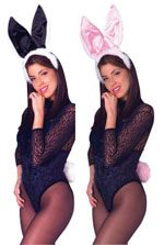 Deluxe Bunny Ear and Tail Sets - Black and White or Pink and White