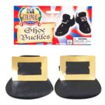 Black costume shoe buckles
