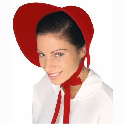 red felt bonnet