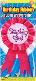 Birthday Girl Rosette Ribbon