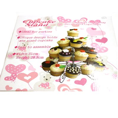 Large Silver Wire Cupcake Stand