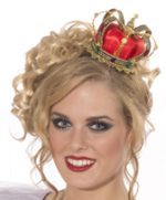 Mini crown for Queen w/ satin & jewels