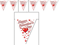 Valentines Day Pennant Banner