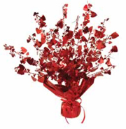 Gleam N Burst Red Metallic Hearts Centerpiece