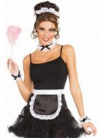 French Maid apron wristbands headband choker
