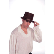 Brown Fabric Top Hat