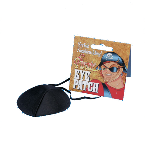 Black Fabric Pirate Eyepatch