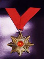 Vampire Medallion on Red Ribbon