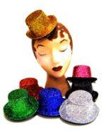 Mini Top Hats - Sparkle Fabric - Asst. Colors