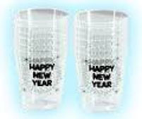 Happy New Year printed shot glasses