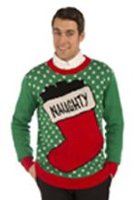 Naughty Stocking Ugly Sweater