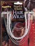 Pearl & chain hair wrap
