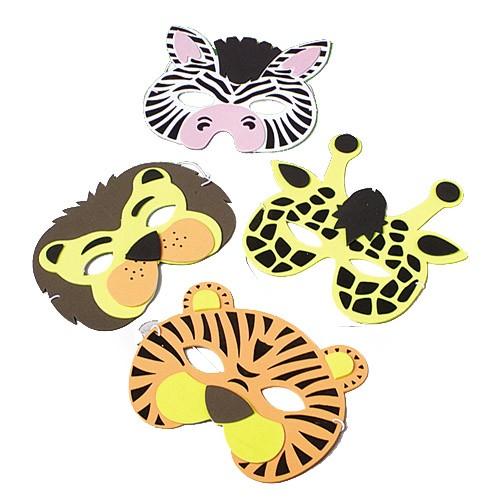 Wild animal half masks for kids