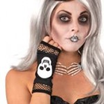 Skull on fingerless gloves Halloween Accessories