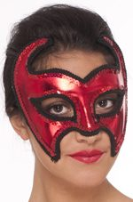 Red Devil Mask w/ Sequins
