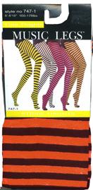 Black/Orange Stripe Tights